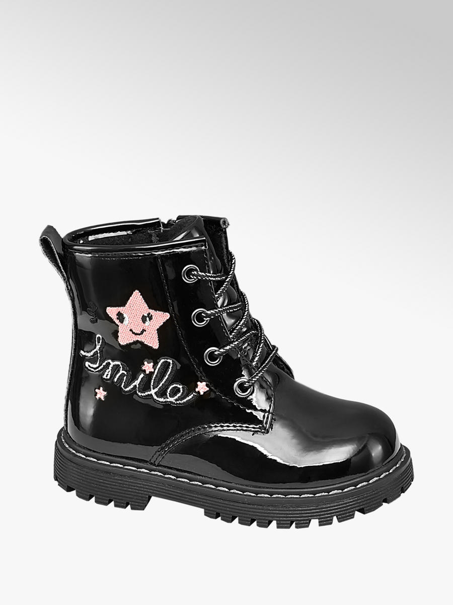 Toddler Girl 'Smile' Patent Lace-up