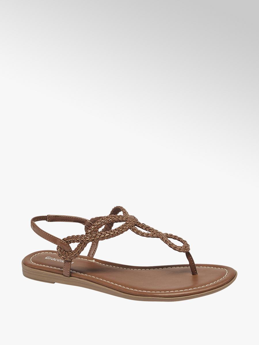 Acheter à prix avantageux sandalette femmes en brun de Graceland dans la  boutique en ligne 9830bec6598