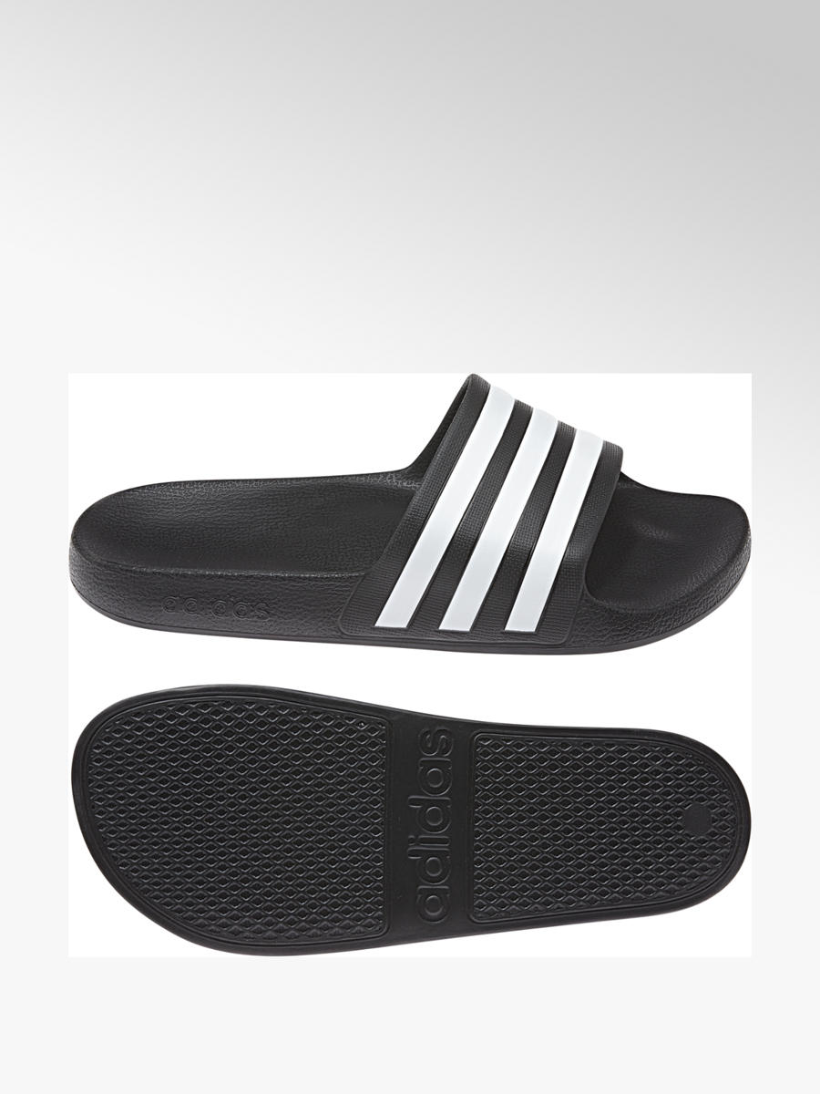 Adidas Ladies' Adilette Slides Black White | Deichmann