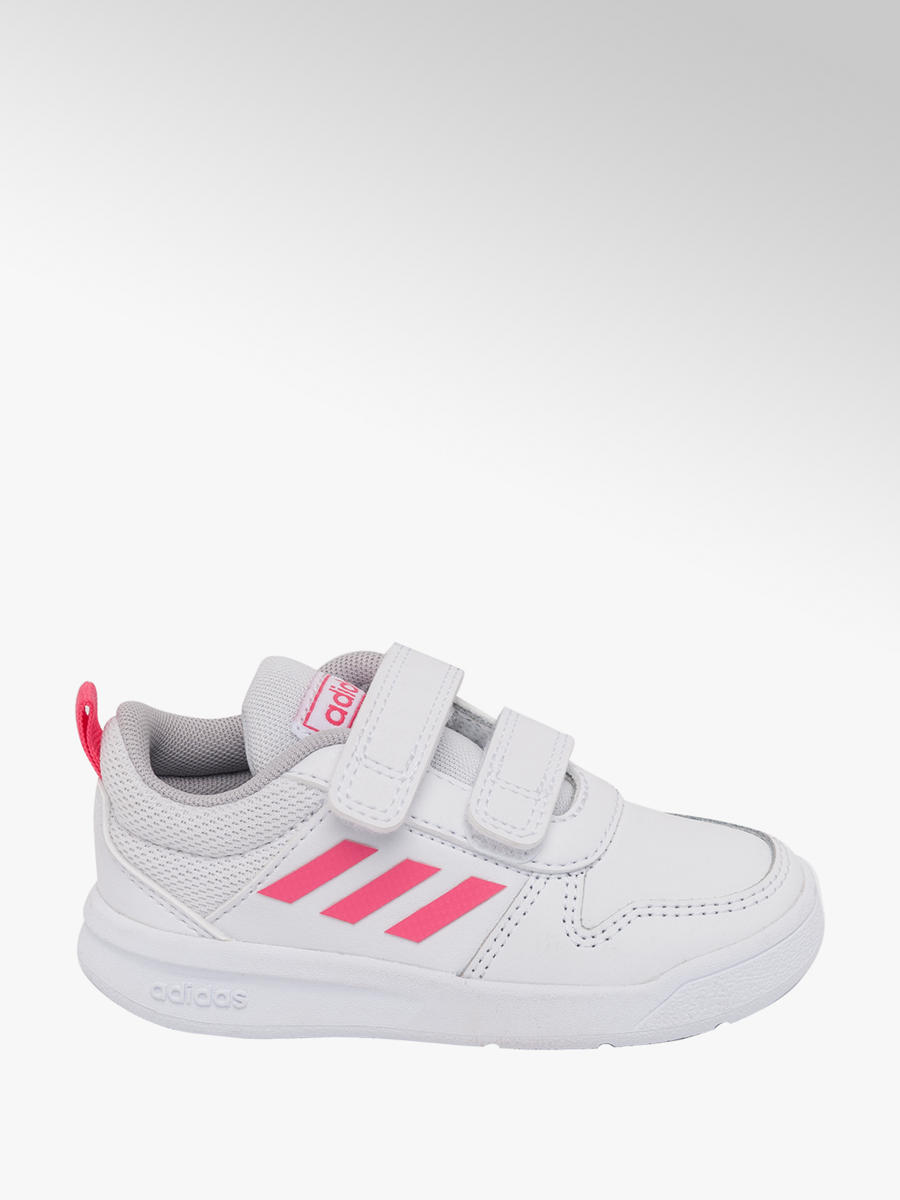 Adidas Toddler Girls Tensaurus Trainers White and Pink