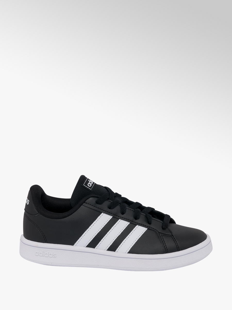 pick up wholesale dealer classic shoes Adidas Grand Court Ladies Trainers in Black | Deichmann
