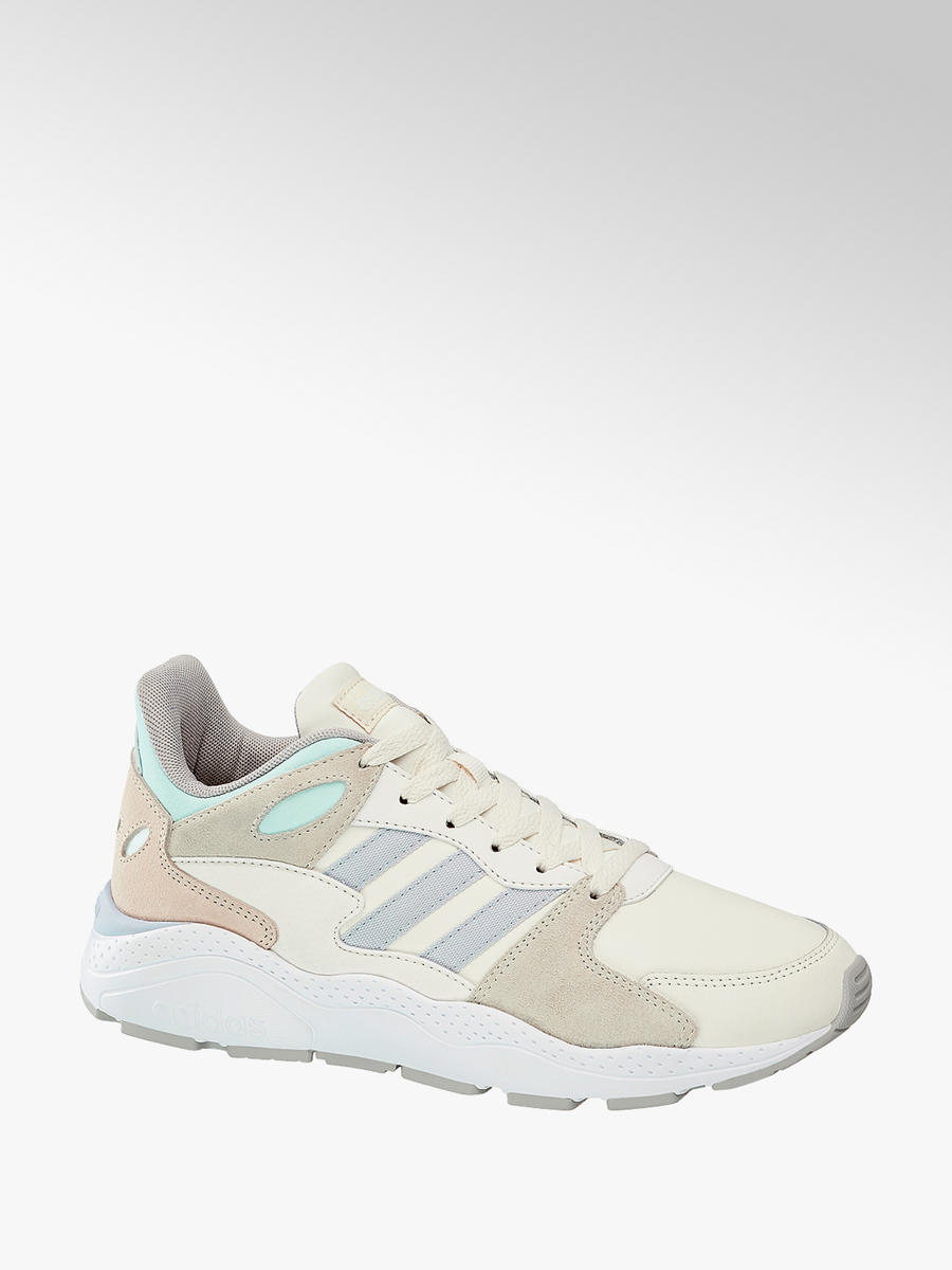 huge sale newest collection elegant shoes Adidas Ladies Crazychaos Trainers in Blue, Cream and White ...