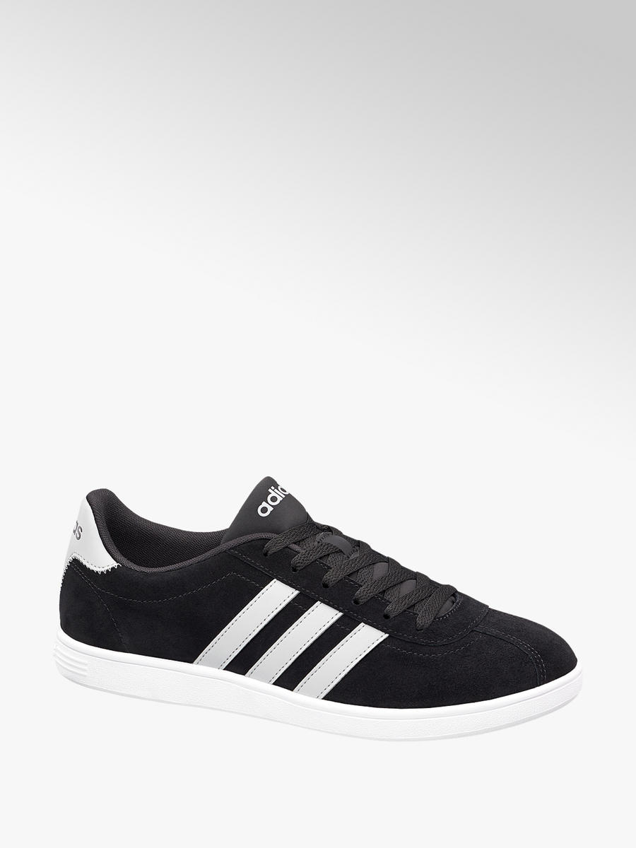 ... low price adidas vl court mens trainers in black leather deichmann  c9147 b2c3d e84a7d47a