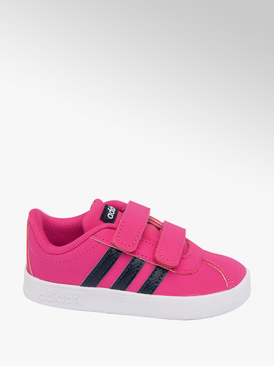 a413afbd69ee Adidas VL Girls Court Trainers Pink