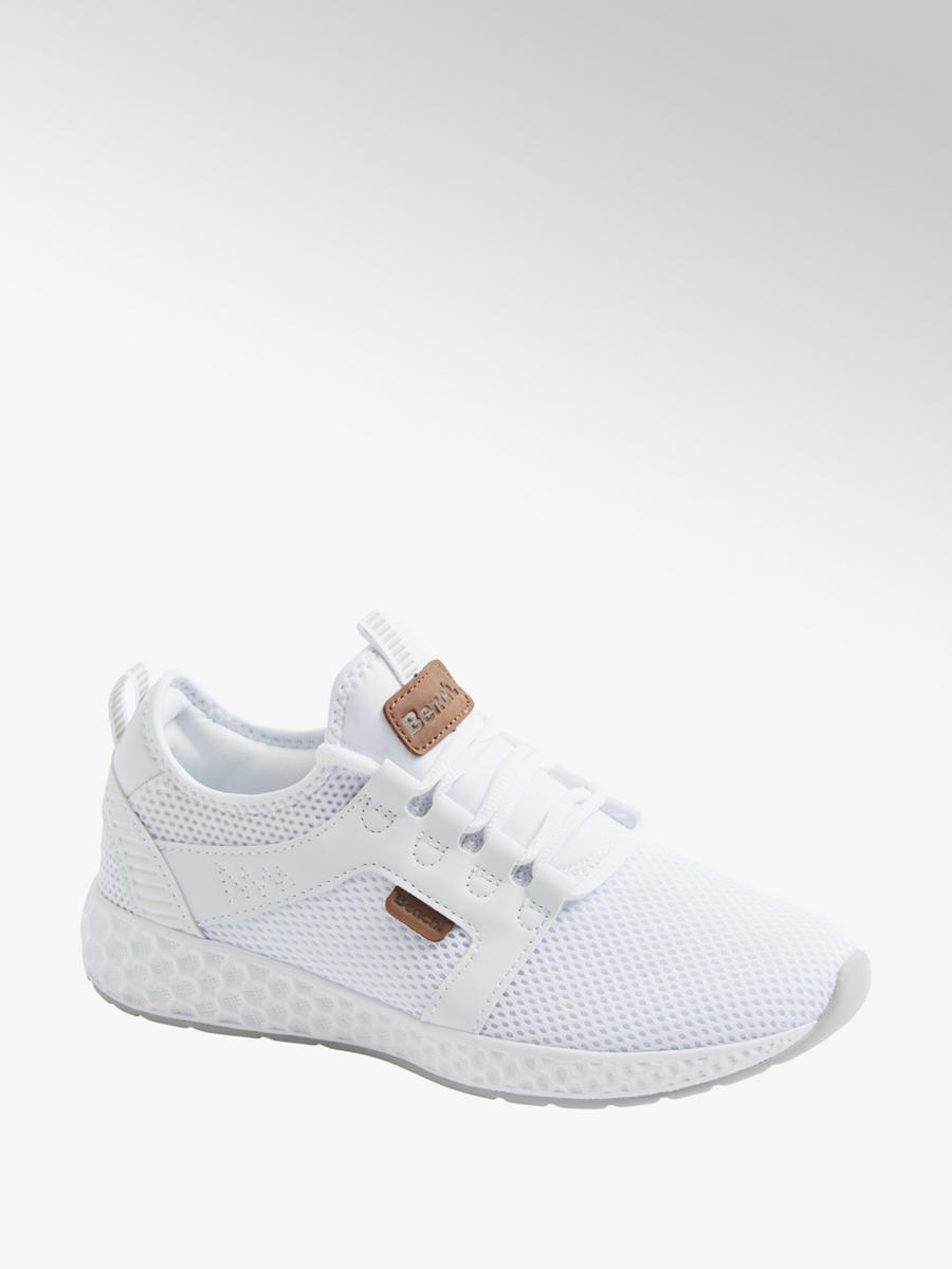 Bench Ladies White Lightweight Lace Up