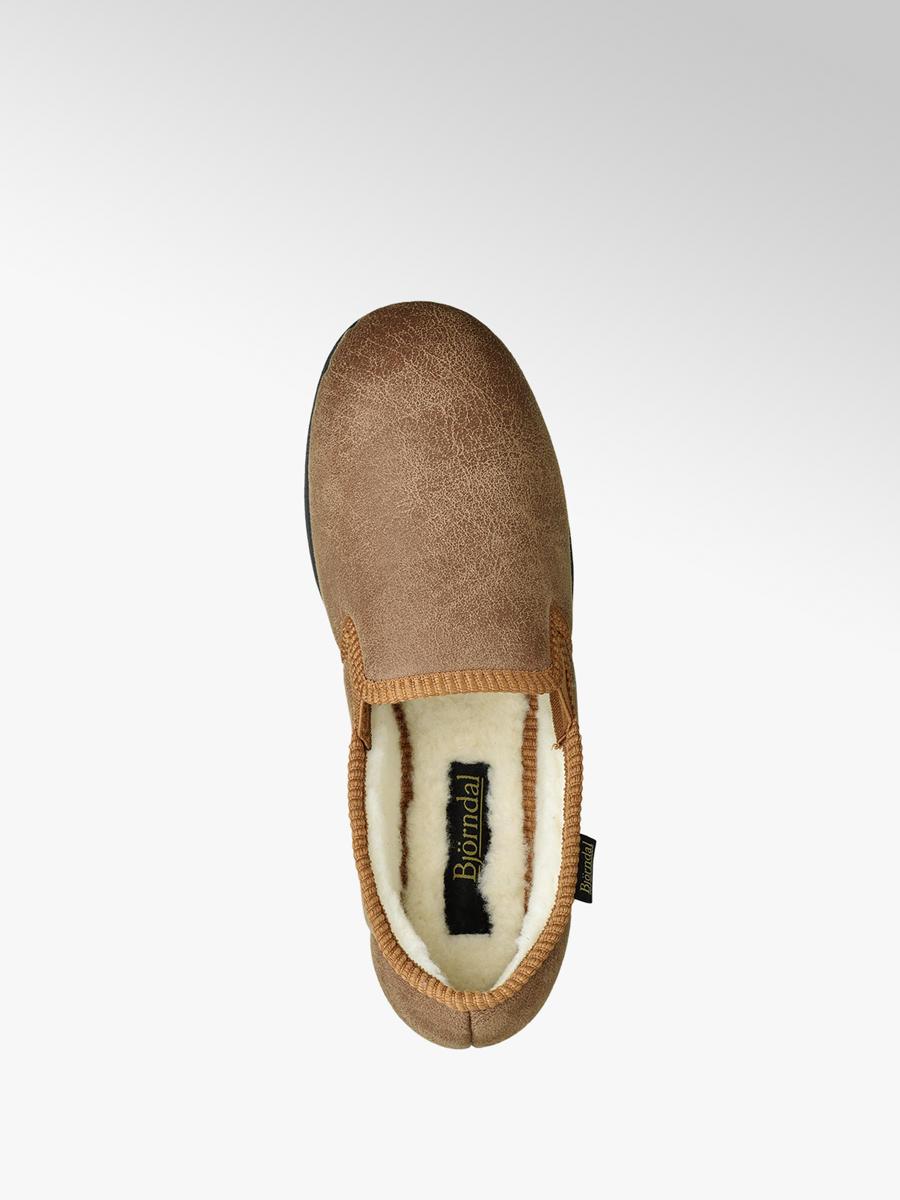 dfe93df005a59 Bjorndal Men's Fleece Lined Full Slippers Beige | Deichmann