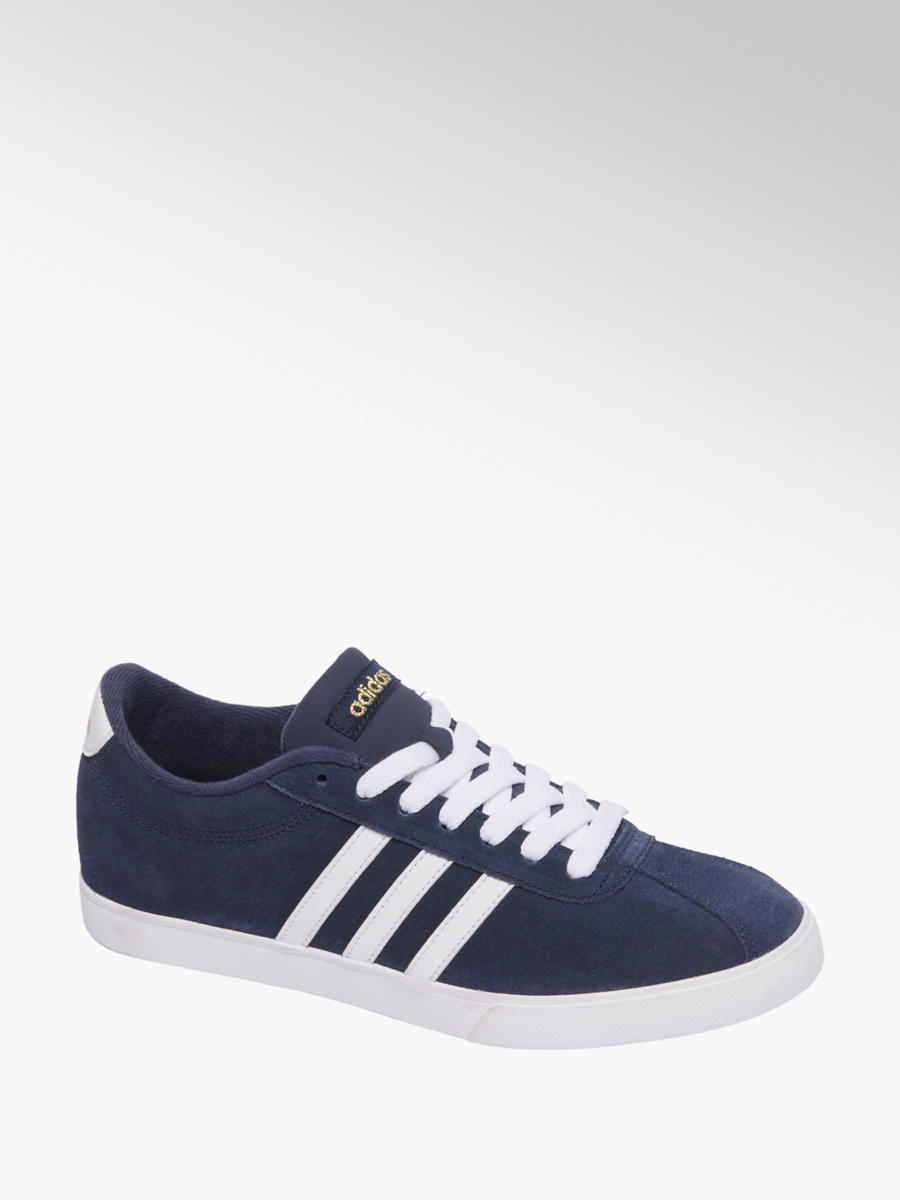 Blauwe adidas Court Set