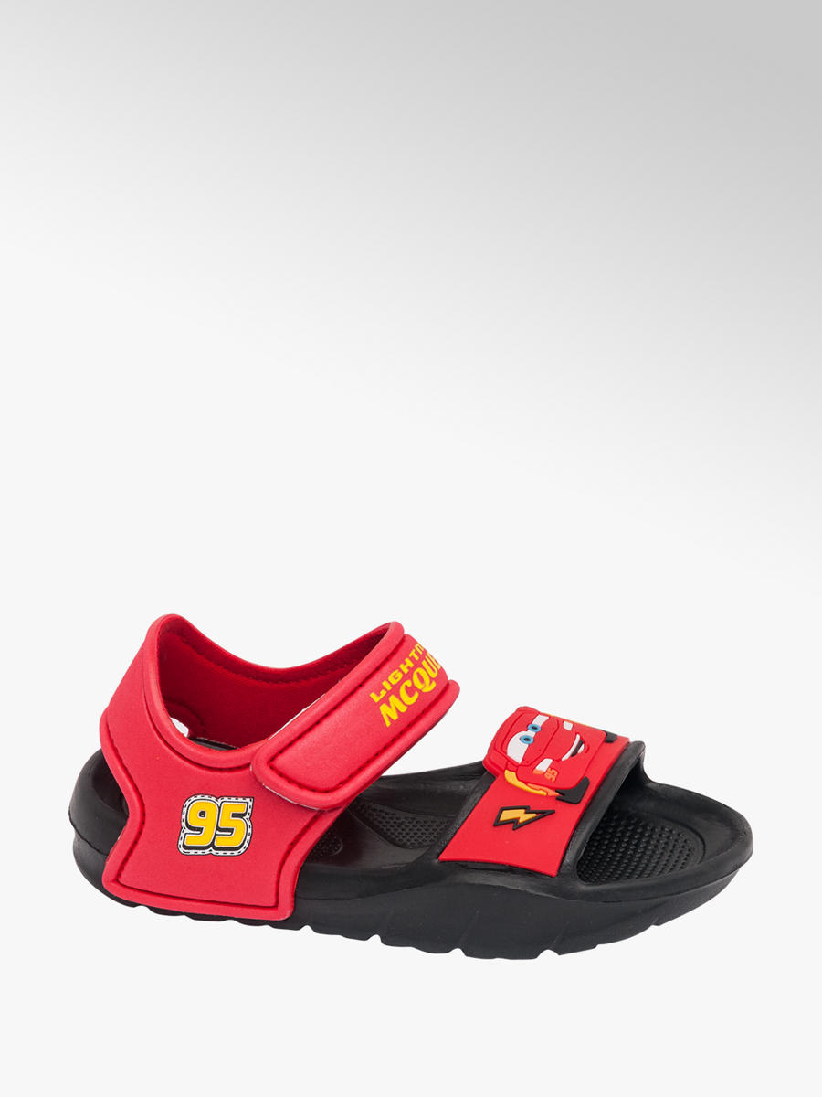Cars Toddler Boys Rip Tape Sandals Red