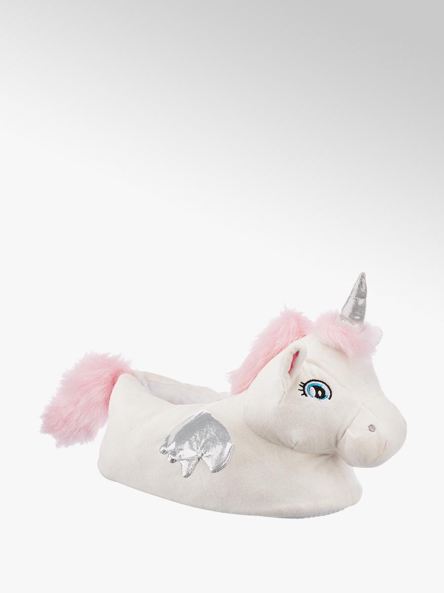 e78584d4d23cc Casa Mia Ladies Novelty Unicorn Slippers White   Deichmann