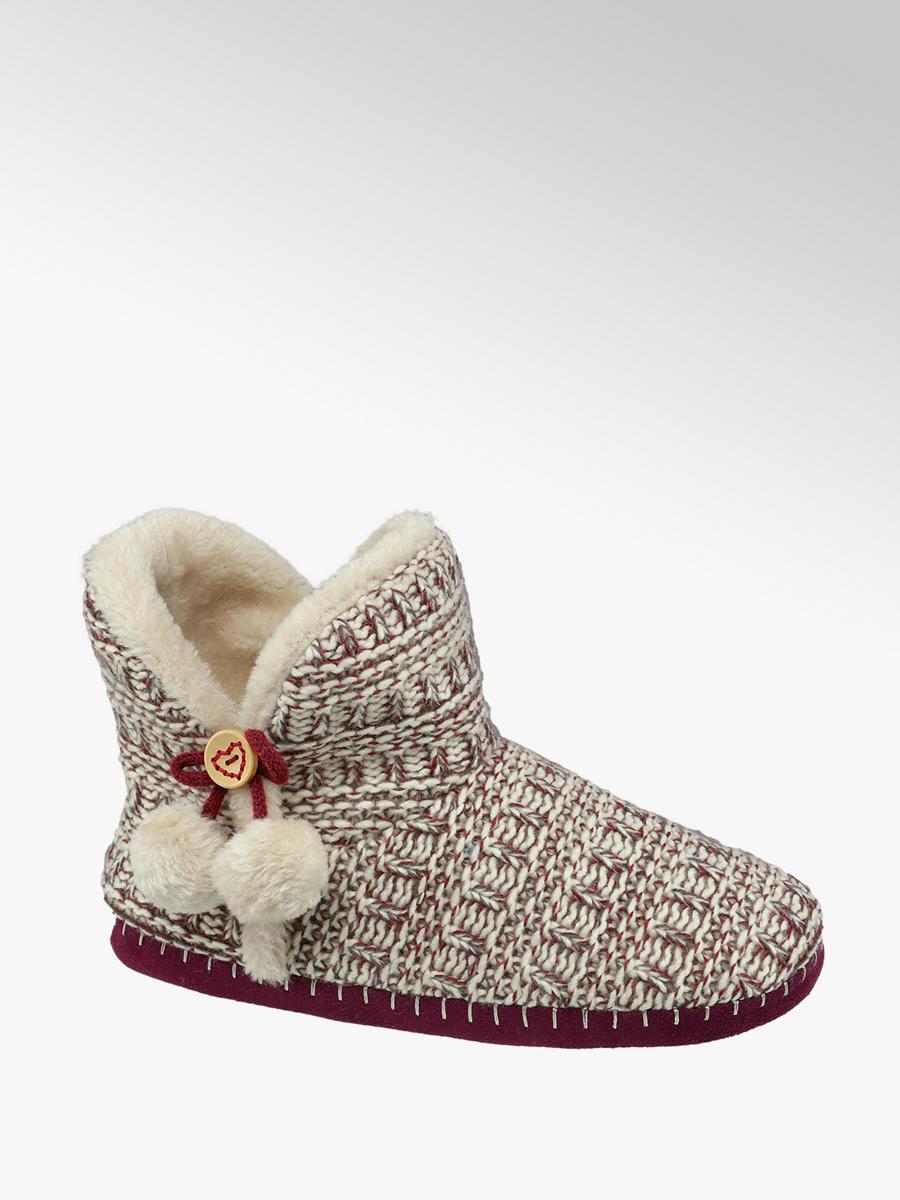 d2f0d7eeda20 Casa Mia Red Ladies Knitted Slipper Boots | Deichmann