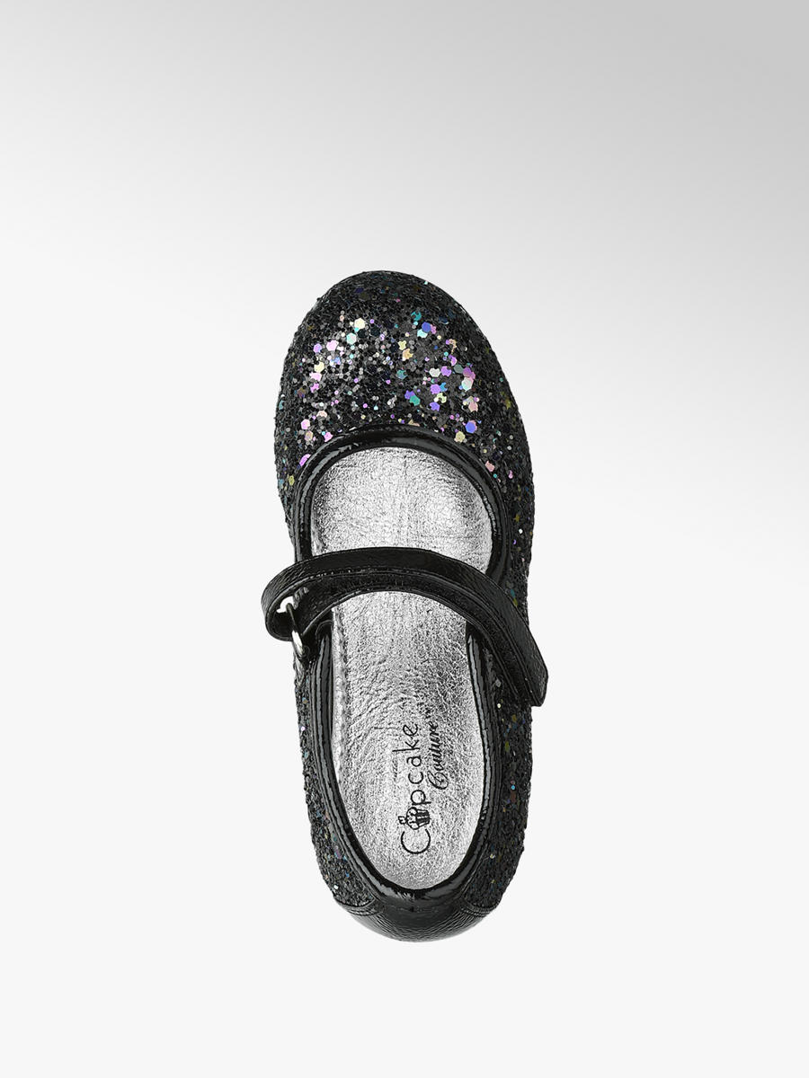 Ballerina Schoenen Kinderschoenen.Cupcake Couture Zwarte Ballerina Glitters Gratis Bezorgd Retour