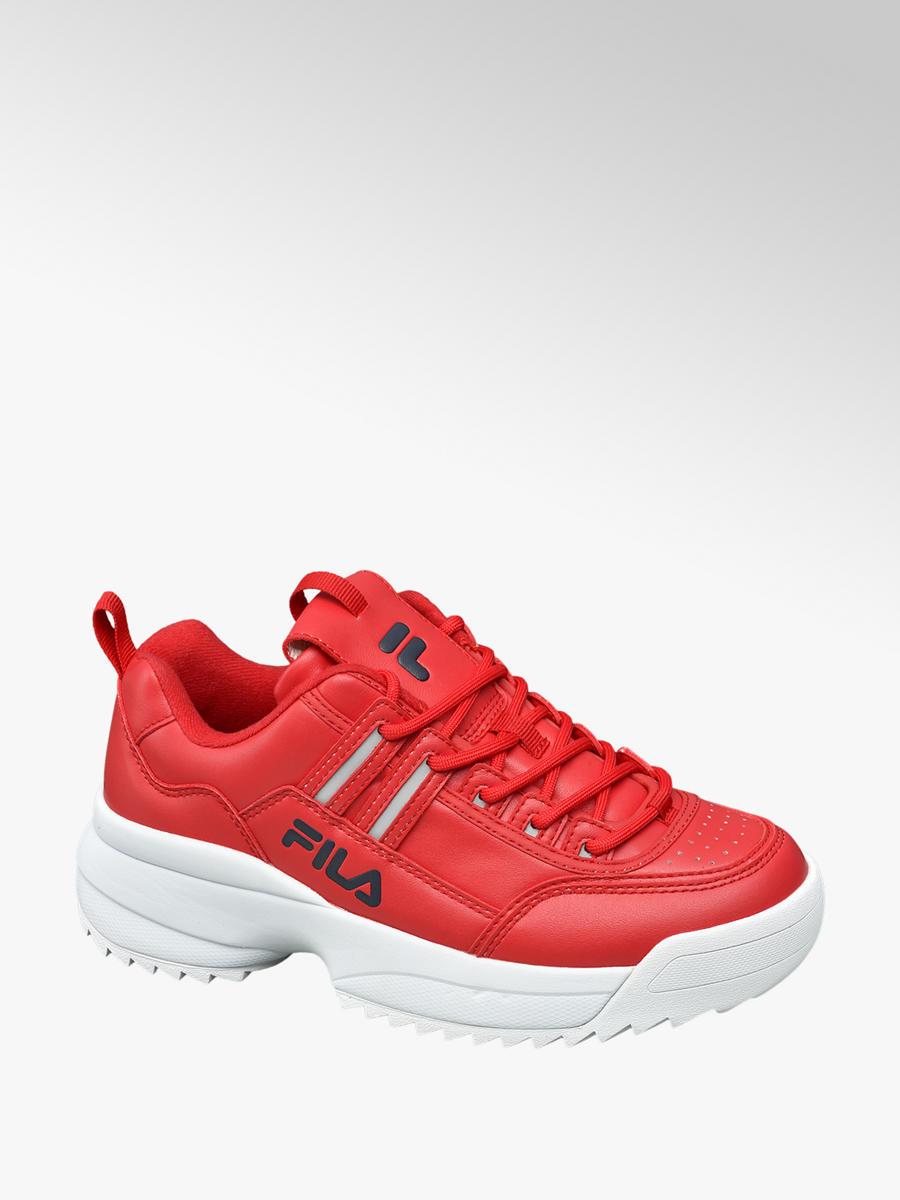 różne kolory szczegóły dla duża zniżka Czerwone sneakersy damskie Fila - 1820069 - deichmann.com