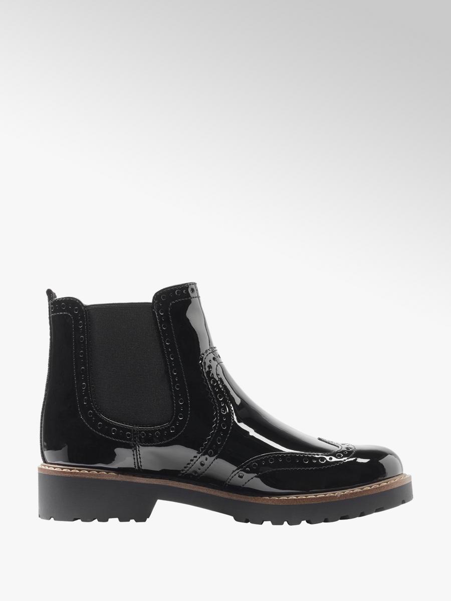 buy popular cb3a6 29bd0 Damen Chelsea Boots in Lack-Optik von Graceland in schwarz ...