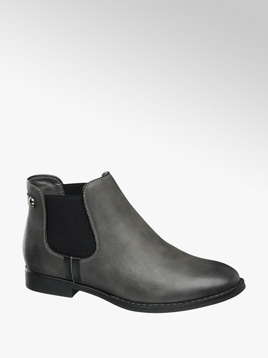 damen chelsea boots von graceland in grau. Black Bedroom Furniture Sets. Home Design Ideas