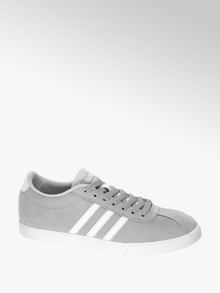 the best attitude f7088 7c1b1 Damen Leder Sneakers COURTSET W von adidas in grau - deichma