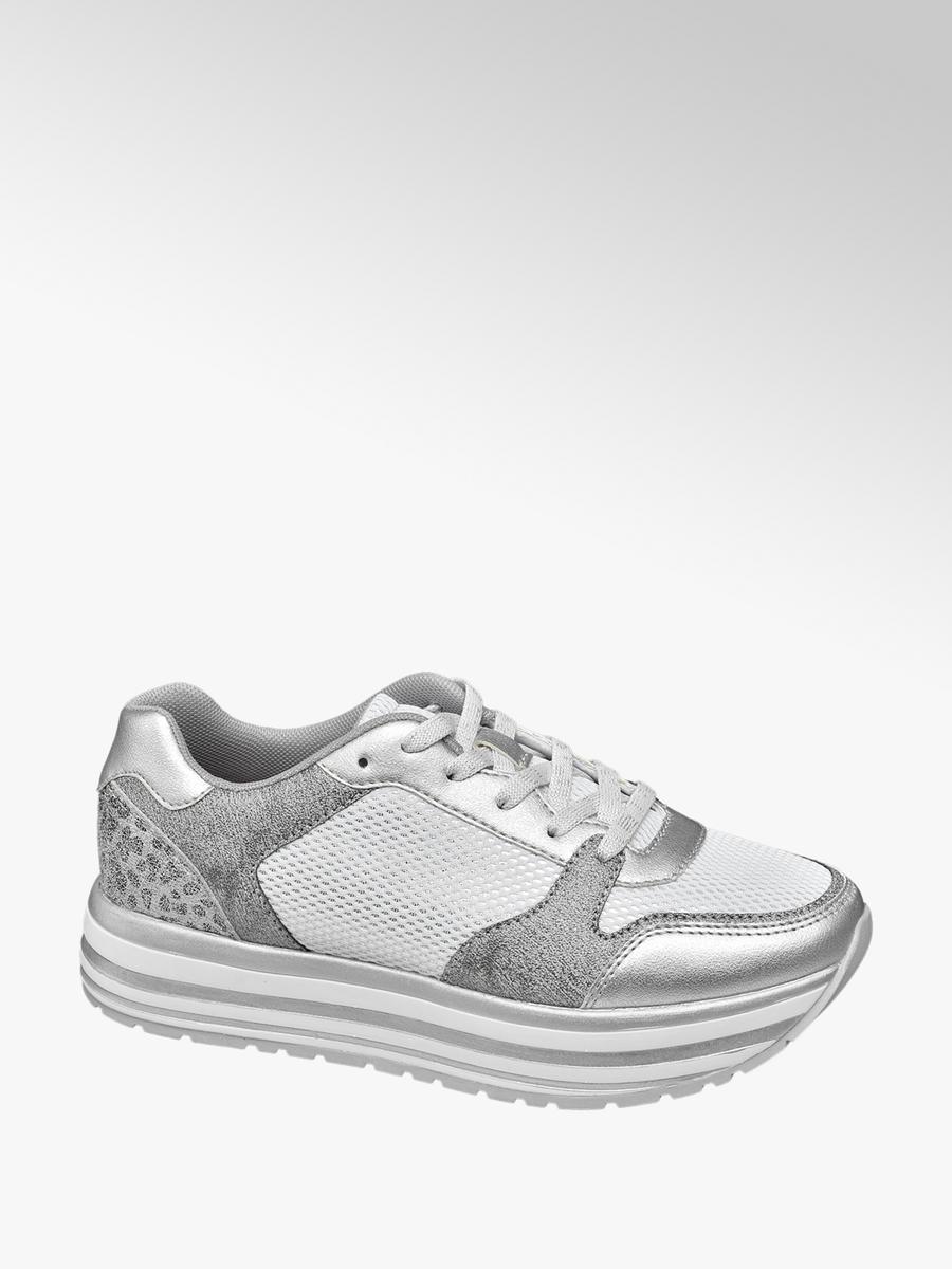 big sale 5343d f305c Damen Plateau Sneakers von Graceland in silber - deichmann.com