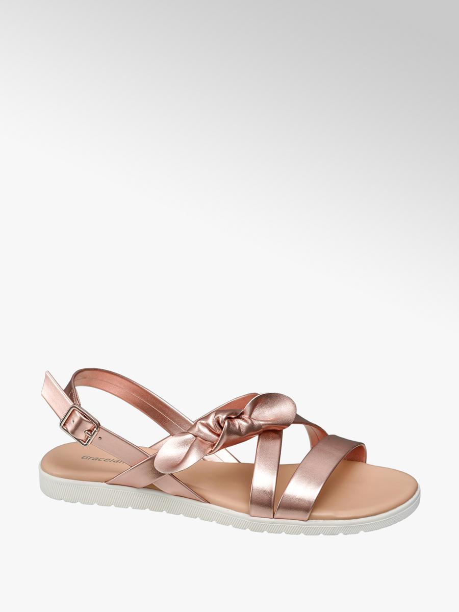 f1feadabf0d6d Damen Sandale in rosegold von Graceland günstig im Online-Shop kaufen