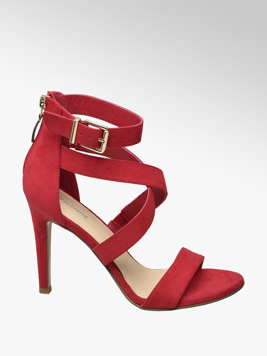 00c7cc610955 Damen Sandalette in rot von Graceland günstig im Online-Shop kaufen