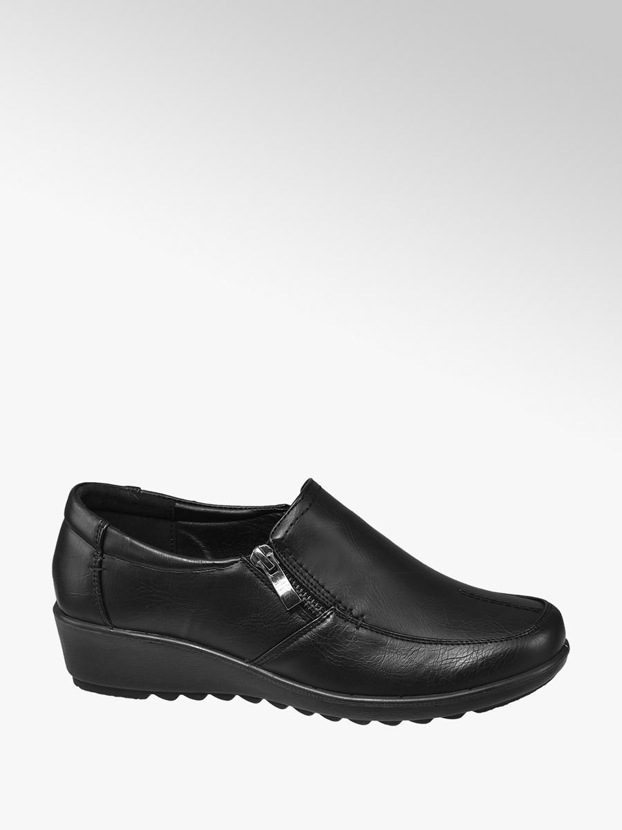 Ladies Comfort Slip-On Shoes Black