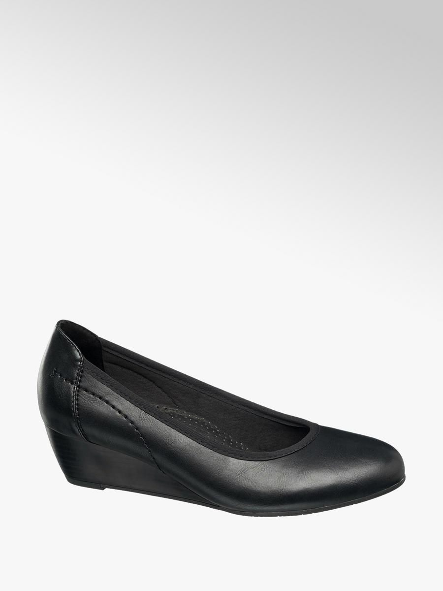 Ladies Wedge Court Comfort Shoe