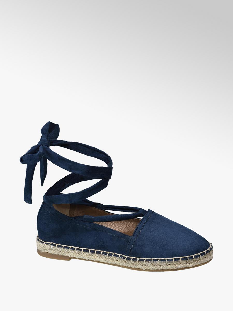 selezione migliore 007d5 01edf Espadrillas blu con lacci da donna | Deichmann