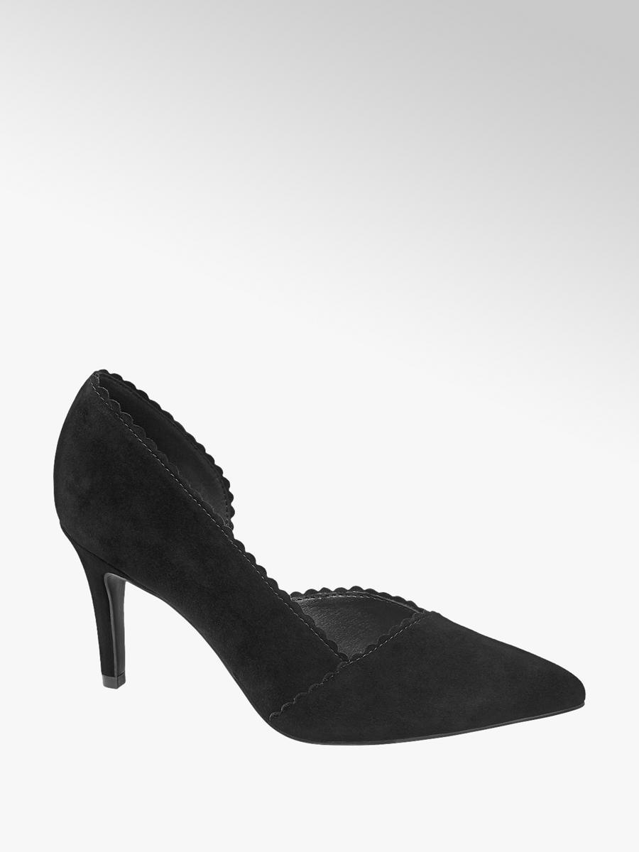 Fekete tűsarkú cipő - 5th Avenue  3693261cb1