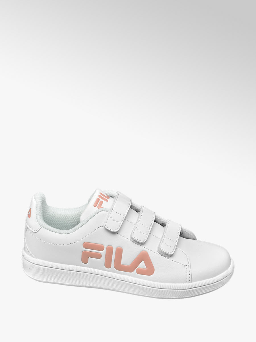 Fila Junior Girls White Triple Strap Trainers | Deichmann