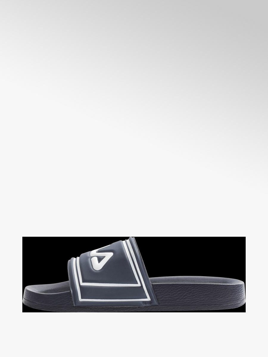 Fila Ladies Blue and White Sliders | Deichmann