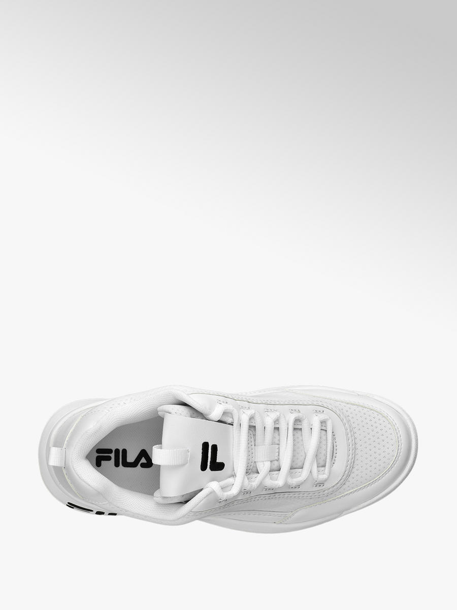 Fila Ladies Chunky Lace-up Trainers White | Deichmann
