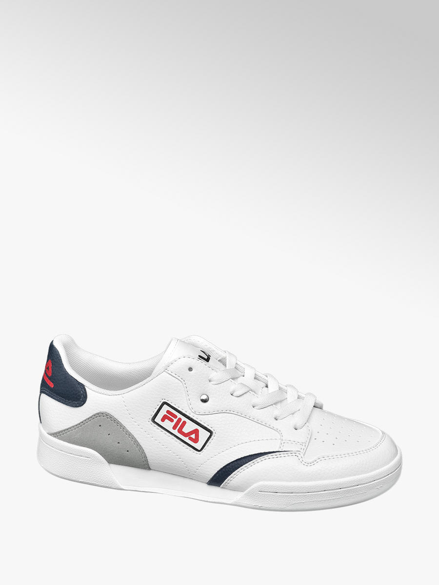 Fila Men's Retro Lace up Shoes White and Blue| Deichmann