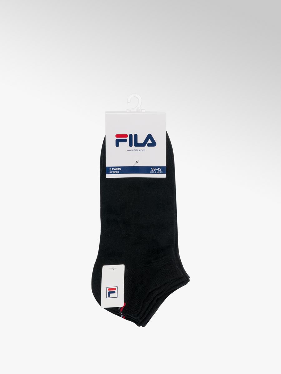 33c04663ee3c4 Fila Men's 3 Pack Black Quarter Sports Socks (43-46) | Deichmann