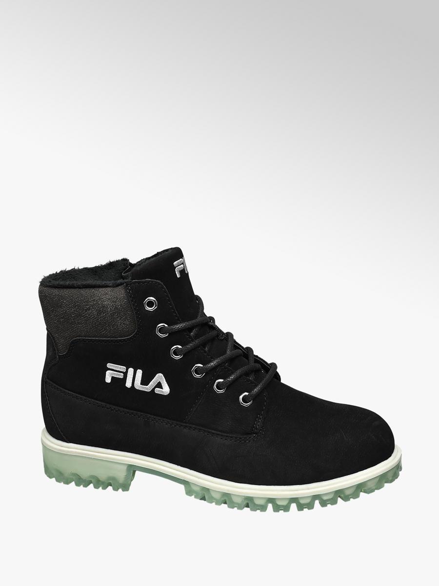 Fila Warm Lining Teen Boys Boots Black