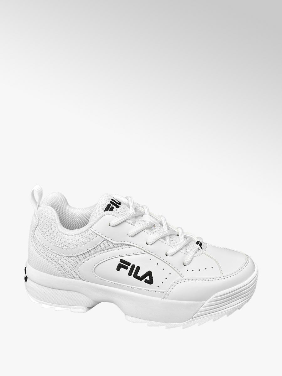 72c8c3a3b49 Fila Witte Chunky sneaker - Gratis Bezorgd & Retour   vanHaren Schoenen