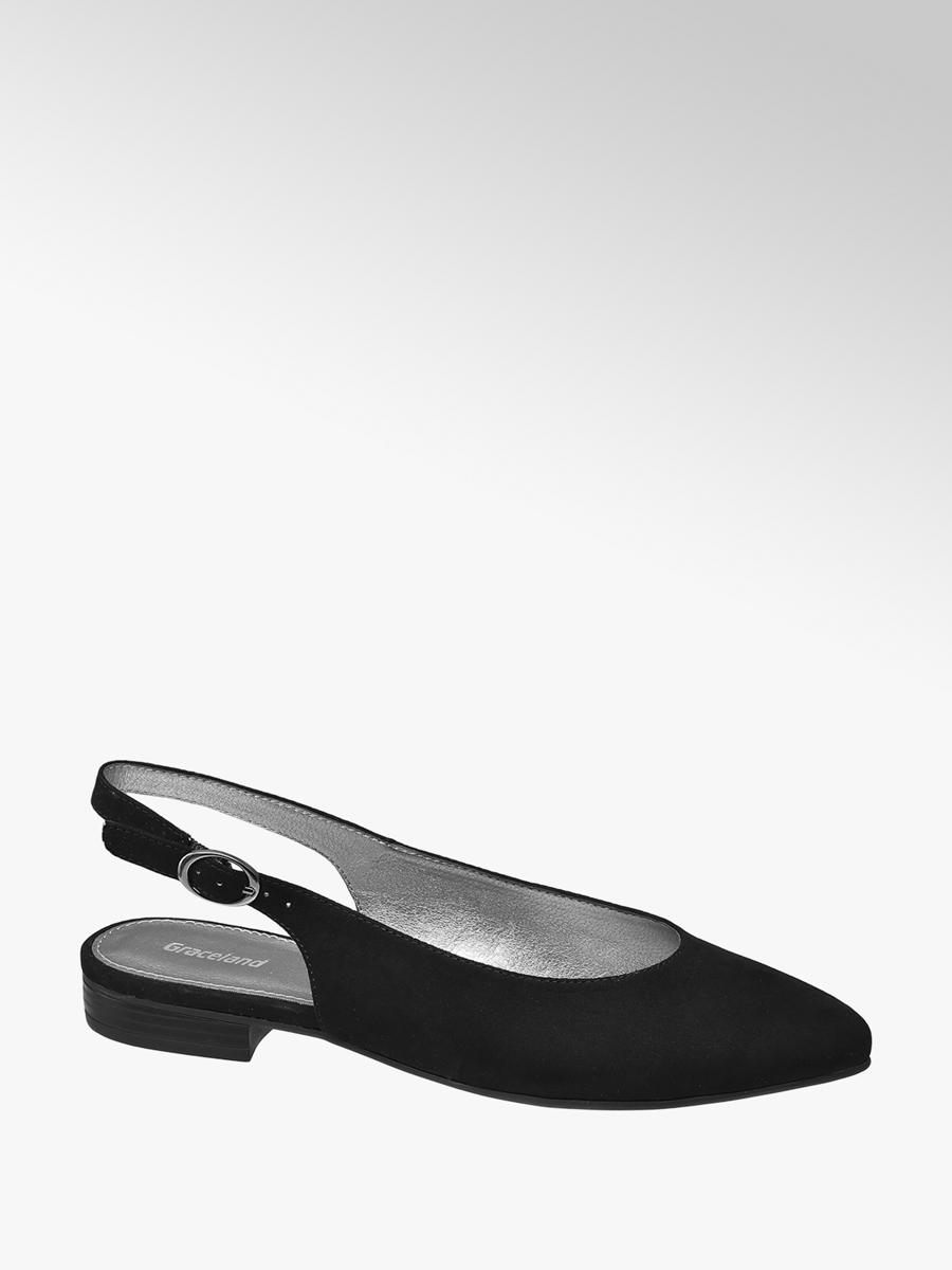 Graceland Ladies Black Sling Back Ballerinas | Deichmann