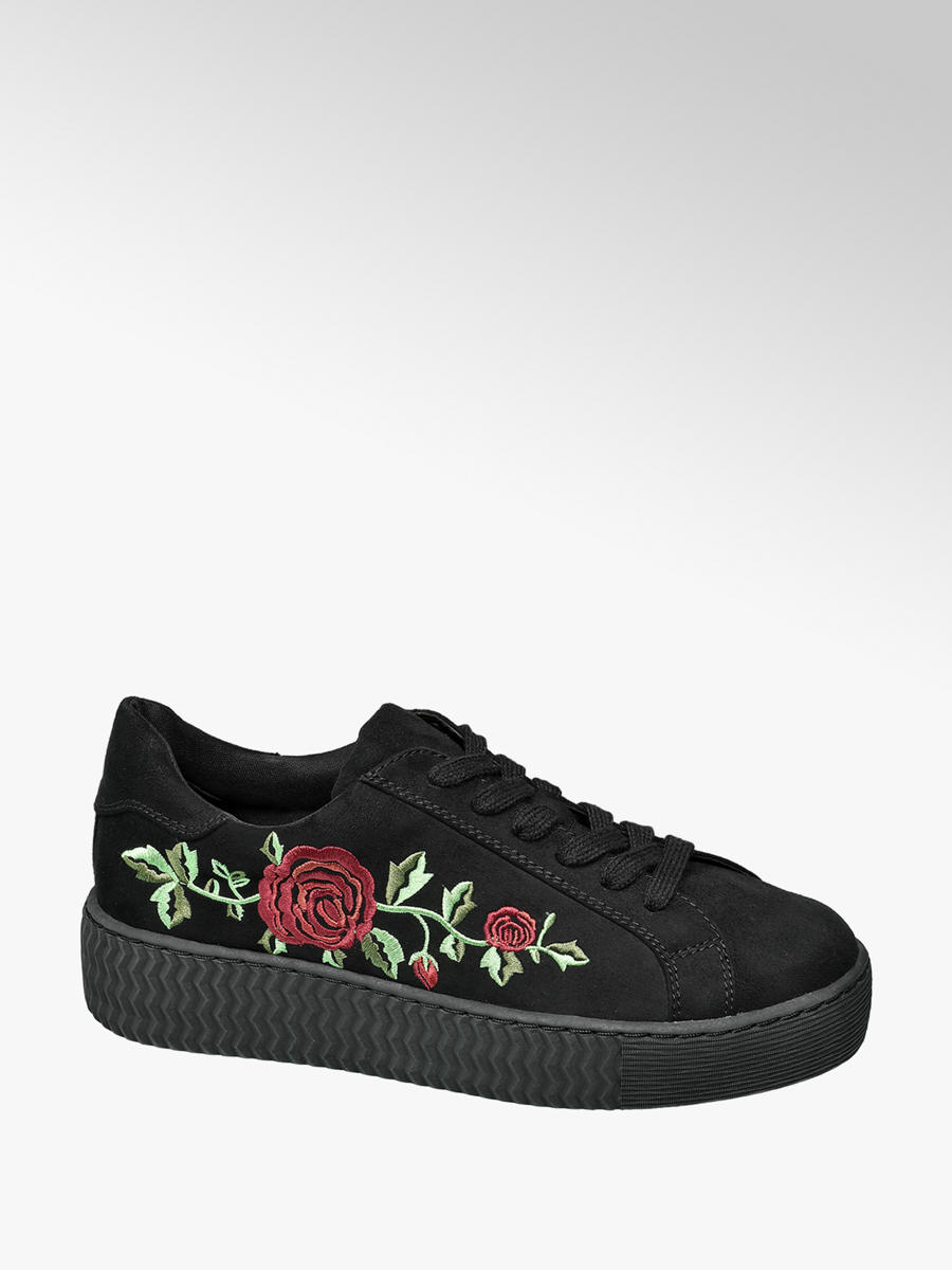 c3185977ed0 Embroidery Graceland Detailed BlackDeichmann Trainers Ladies' Nwnvm80