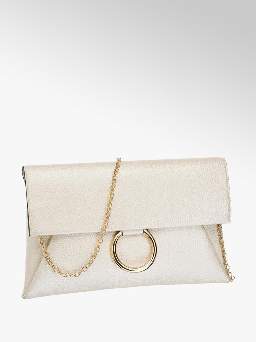 0071ad1e393 Graceland Beige clutch gouden ring - Gratis Bezorgd en Retour | vanHaren.nl
