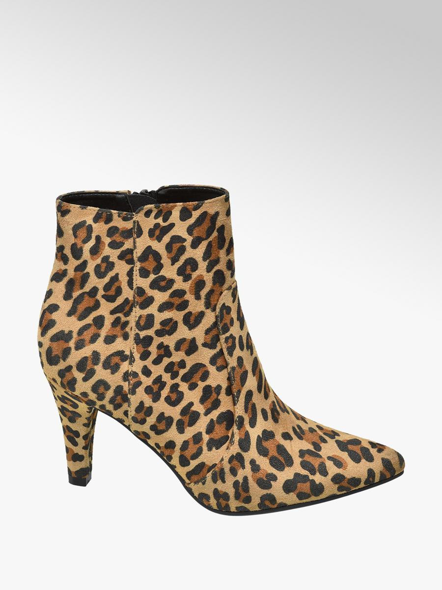 48fa669df819d8 Graceland Bruine enkellaars leopard - Gratis Bezorgd en Retour | vanHaren.nl