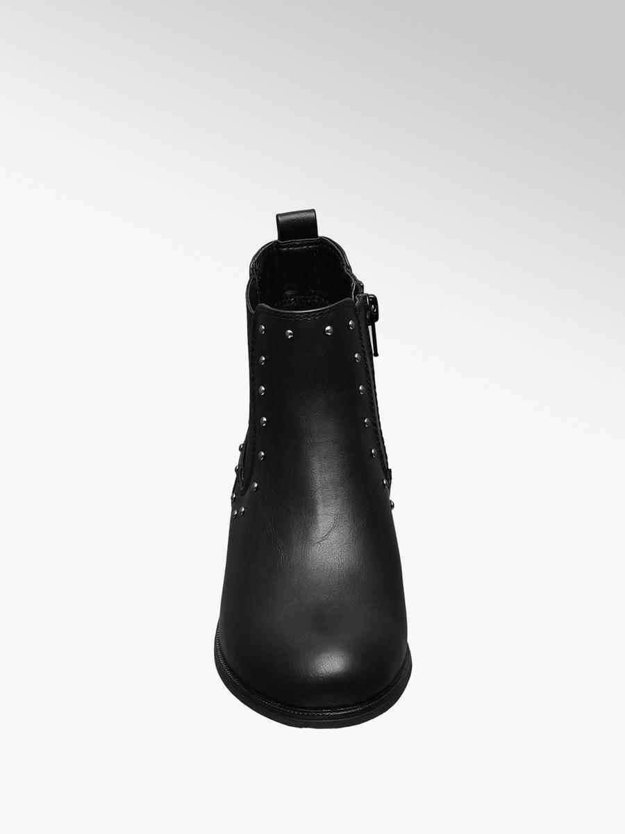 2ef65f20a137 Graceland Teen Girl Black Stud Detail Chelsea Boots
