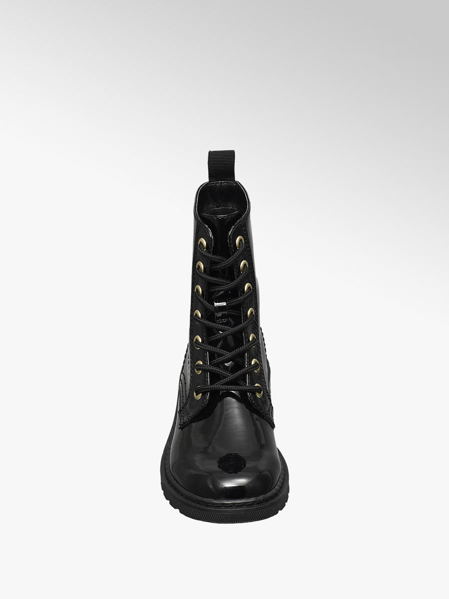 4c35f0301885f Graceland Junior Girls Black Lace-up Ankle Boots | Deichmann