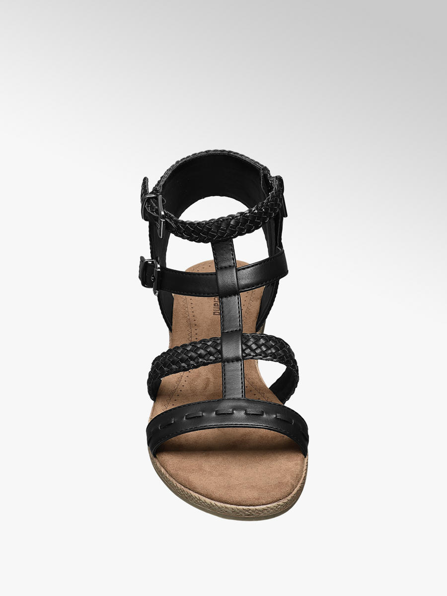 Black Gladiator Sandals   Deichmann