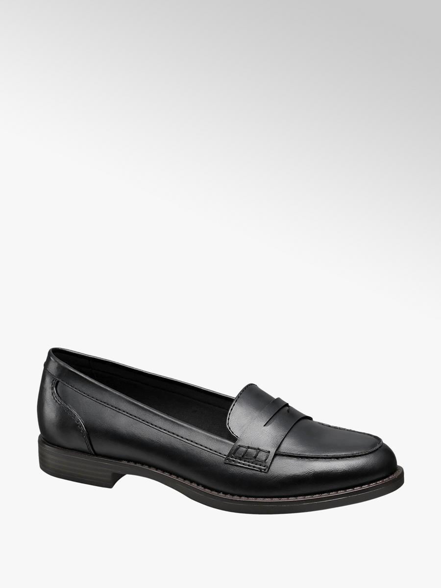 2815d2a2234 Graceland Ladies  Black Loafers