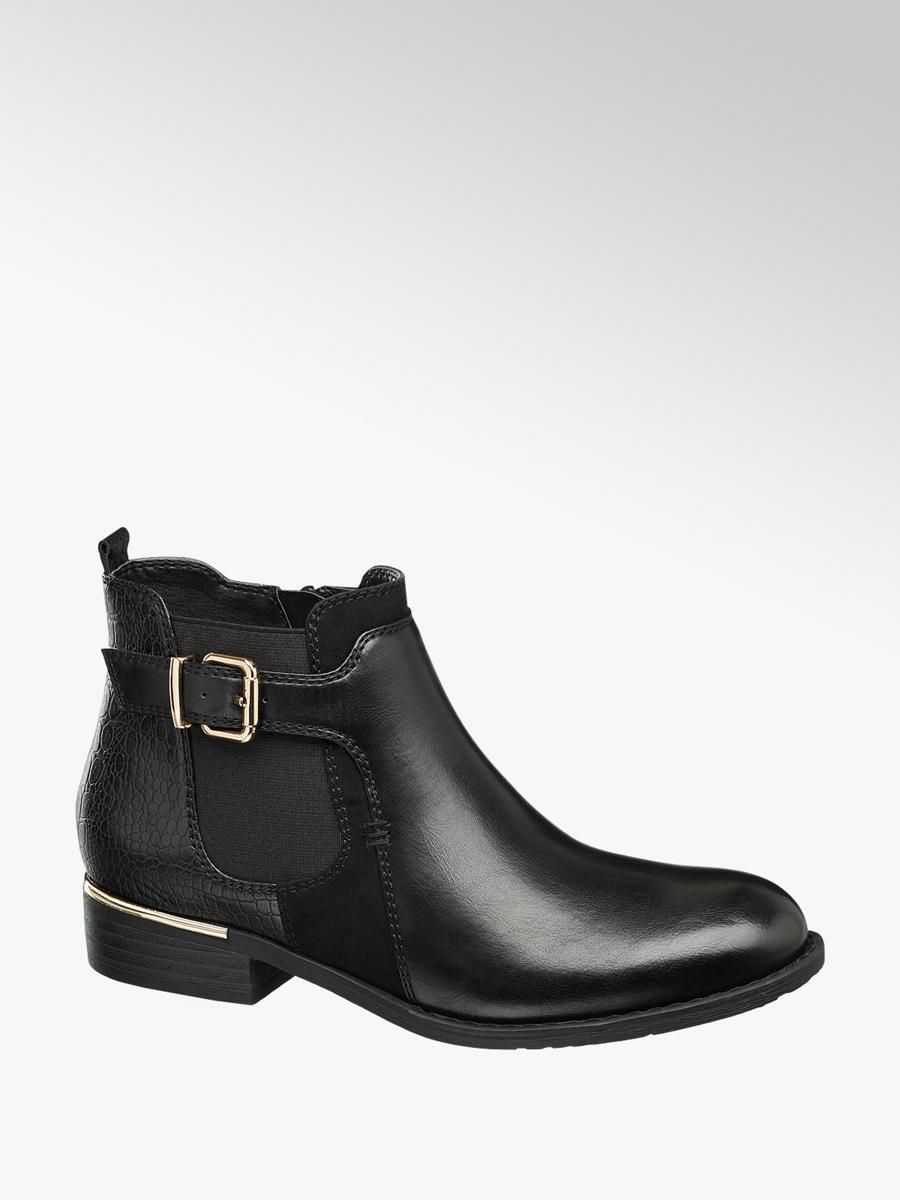 51e101a1a Graceland Ladies  Buckle Chelsea Boots Black