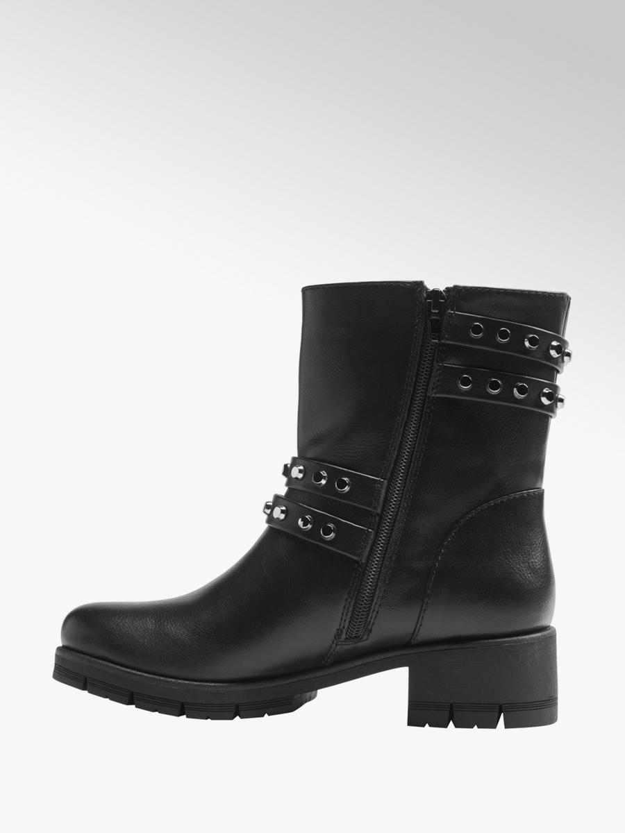 best place many styles outlet for sale Graceland Ladies' Chunky Heeled Biker Boots Black | Deichmann