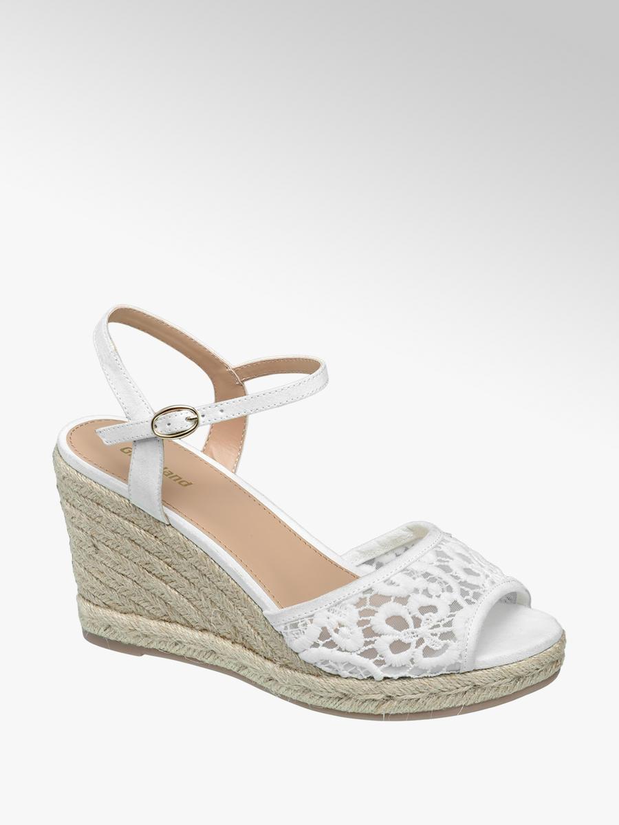 f4cc8f88a006 Graceland Ladies  Espadrille Wedge Sandals White