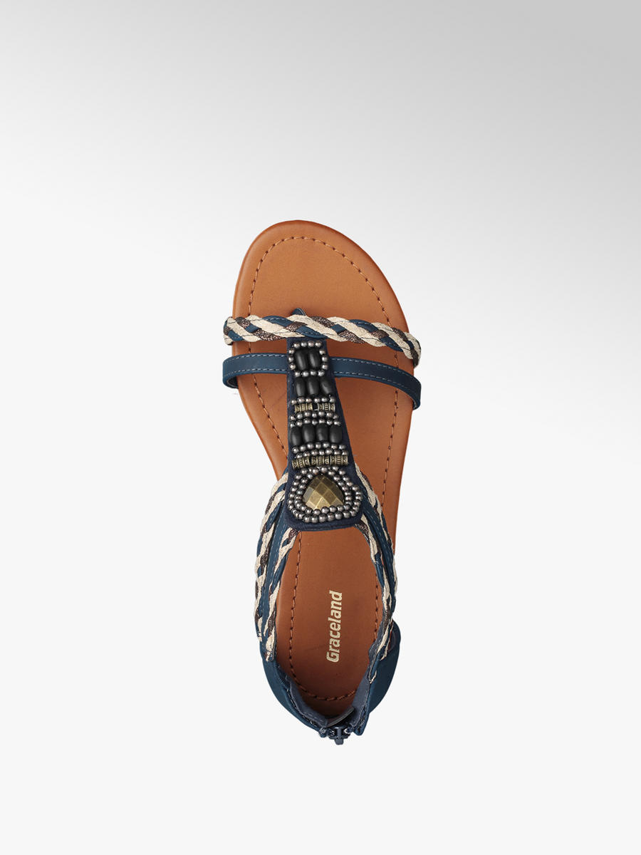 fa55b4e51723 Graceland Navy Gladiator Sandals. 2  2  3. This article has been rated 8  times