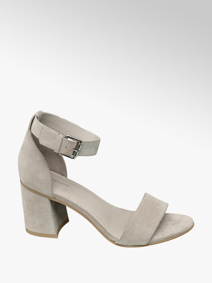 af9caad40b05 Graceland Ladies  Grey Block Heeled Sandals