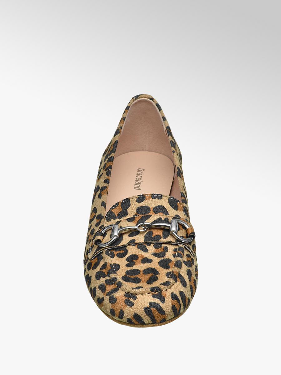Graceland Ladies' Loafers Leopard Print