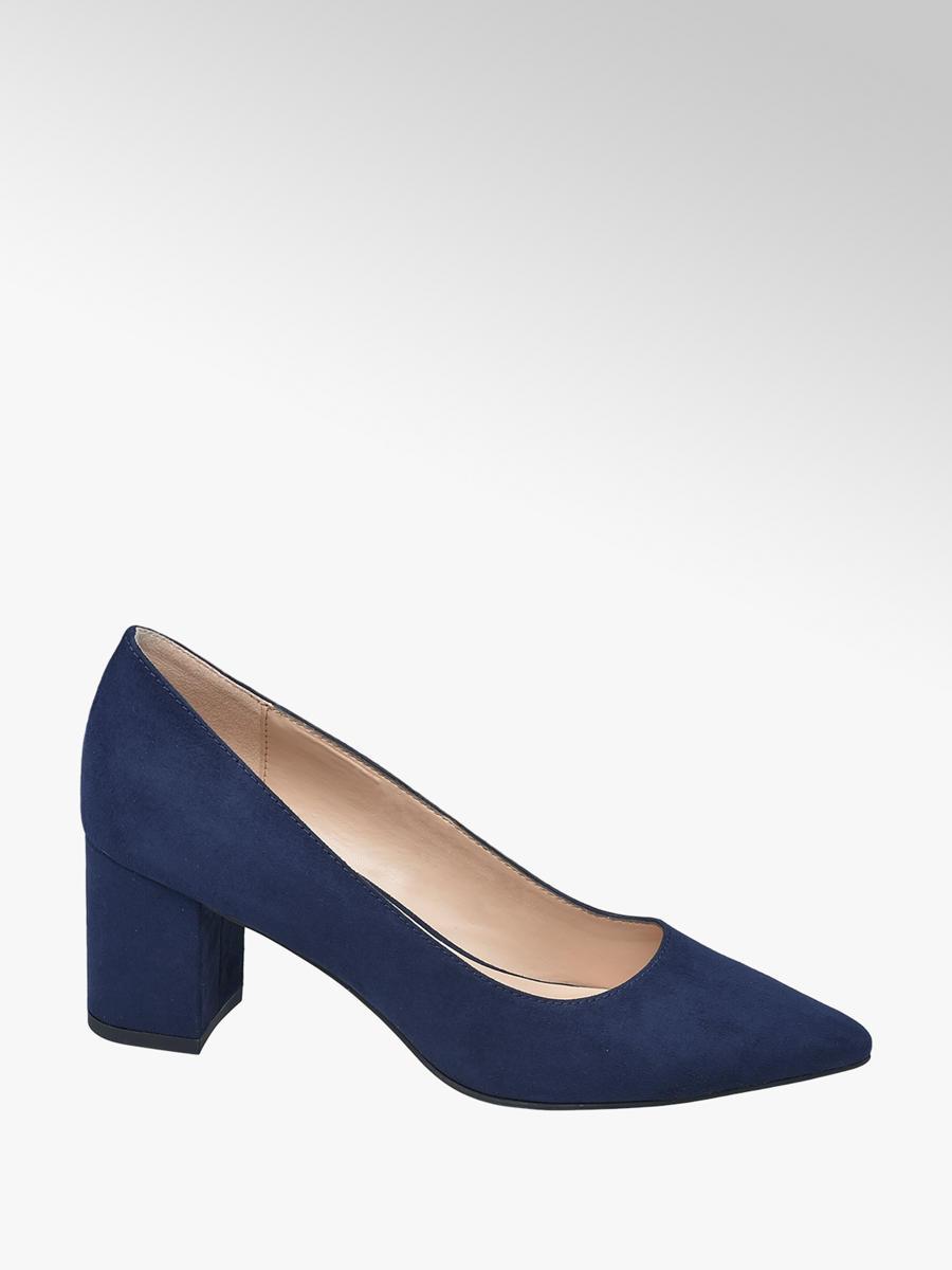 Graceland Ladies' Navy Block Heel