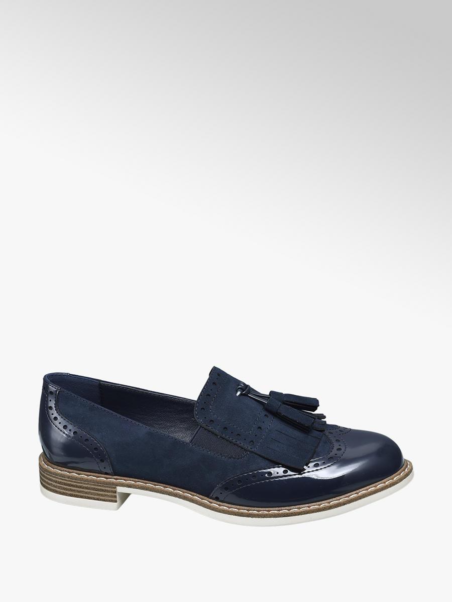 Graceland Ladies' Navy Tassel Loafers