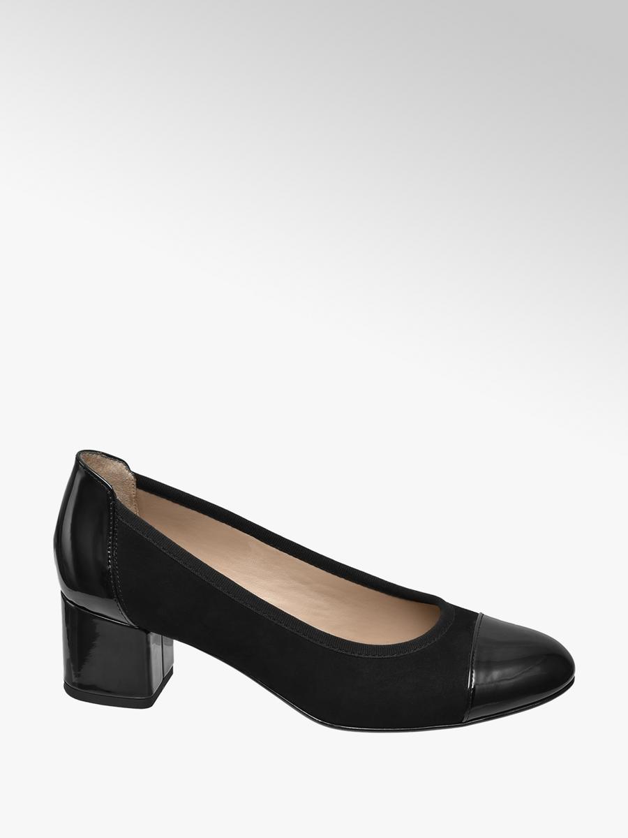 Graceland Ladies' Patent Heels Black